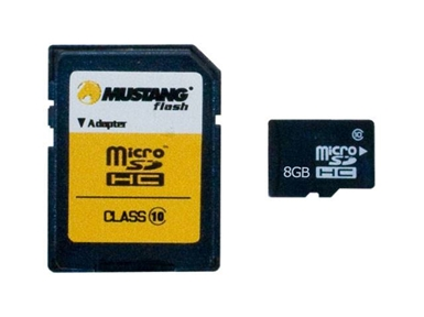 Spominska kartica Micro Secure Digital (microSDHC) MUSTANG 8GB Silverstone (Class 10)