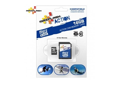 Spominska kartica Micro Secure Digital (microSDHC) Action 16GB Max-Flash