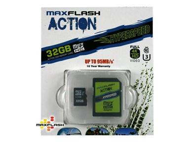 Spominska kartica Micro Secure Digital Action (microSDHC) MAXFLASH 32GB (UHS-I U3)