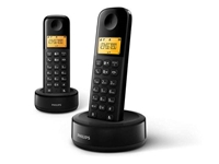 Slika Brezžični DECT telefon Philips D1302B Duo