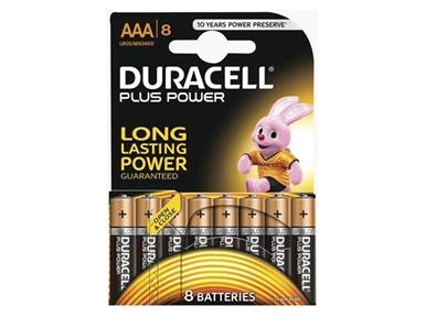 Alkalne baterije Duracell Plus Power MN2400B8 AAA (8 kos)