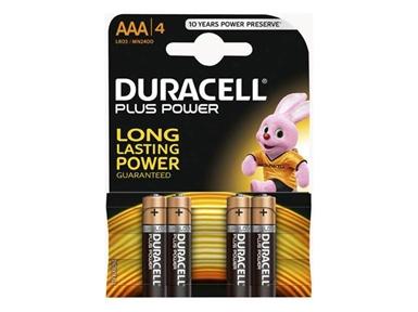 Alkalne baterije Duracell Plus Power MN2400B4 AAA (4 kos)