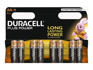 Alkalne baterije Duracell Plus Power MN1500B8 AA (8 kos)