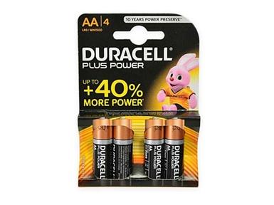 Alkalne baterije Duracell Plus Power MN1500B4 AA (4 kos)