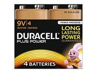 Slika Alkalne baterije Duracell Plus Power MN1604B4 PP3 9V (4 kos)