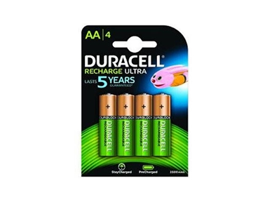 Polnilne baterije Duracell HR06-P AA 2500mAh NiMH (4 kos)