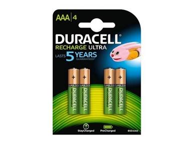 Polnilne baterije Duracell HR03-A AAA 850mAh NiMH (4 kos)