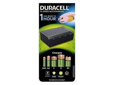 Hi-Speed večnamenski polnilnik baterij Duracell CEF22-EU (AA/AAA/C/D/9V)