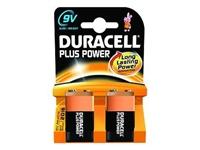 Slika Alkalne baterije Duracell Plus Power MN1604B2 PP3 9V (2 kos)