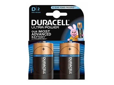 Alkalne baterije Duracell Ultra Power MX1300B2 Size D LR20 (2 kos)