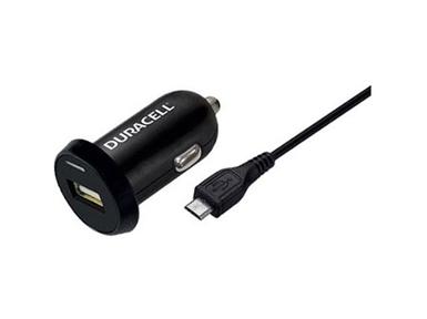 Univerzalni USB avtomobilski polnilnik Duracell DR5022A + 1m Micro-USB kabel