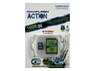 Spominska kartica Secure Digital Maxflash Action 16GB UHS-I U3 (SDHC)