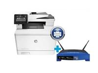 Multifunkcijski barvni laserski tiskalnik HP Color LaserJet Pro M477fnw omogoča tiskanje, skeniranje, kopiranje in faksiranje.