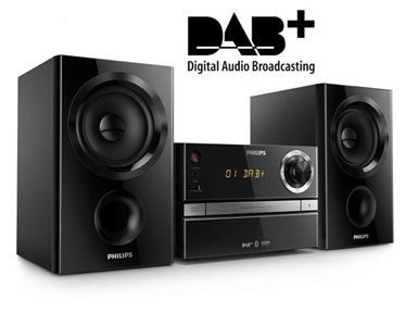 Mikro Glasbeni Sistem Philips BTB1370 (DAB+/FM/BT/MP3/CD)