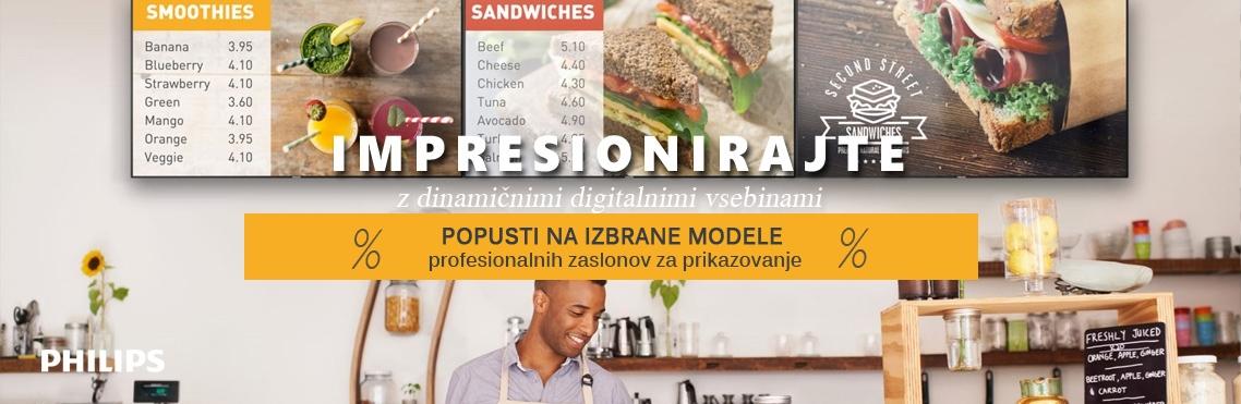 Profesionalni zasloni Philips