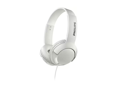 Začutite BASS+. Stereo naglavne slušalke Philips SHL3070WT BASS+
