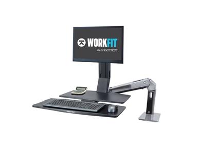 Namizni nosilec WorkFit-A, Single-LD z delovno površino