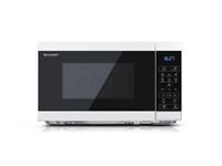 Mikrovalovna pečica Sharp MS02E-W (20 L, 800W, prostostoječa, bela)