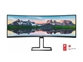 "LED monitor Philips 498P9 (48.8"" ukrivljen, Dual Quad HD) Brilliance"