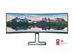 "LED monitor Philips 498P9 (48.8"" ukrivljen, Dual Quad HD) Brilliance"