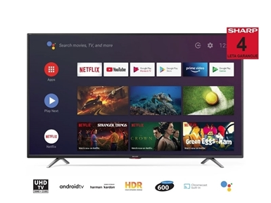 "65"" 4K Ultra HD Android TV sprejemnik Sharp 65BL5EA"